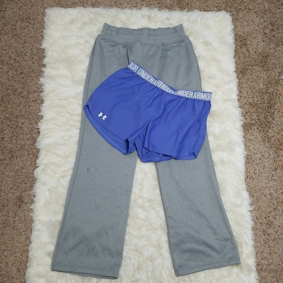 Under Armour Pants - Sz M Workout Bundle Sweatpants Shorts Under Armour